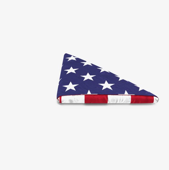 Folded American Flag Clipart.