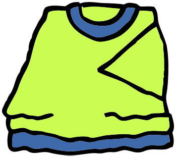 Folded clothes clipart.