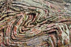 Folded Limestone Royalty Free Stock Image.