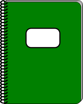 Reading Notebook Clipart.