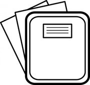 Folder with paper, Vector Image.