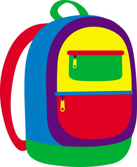 Put folder in backpack school clipart.