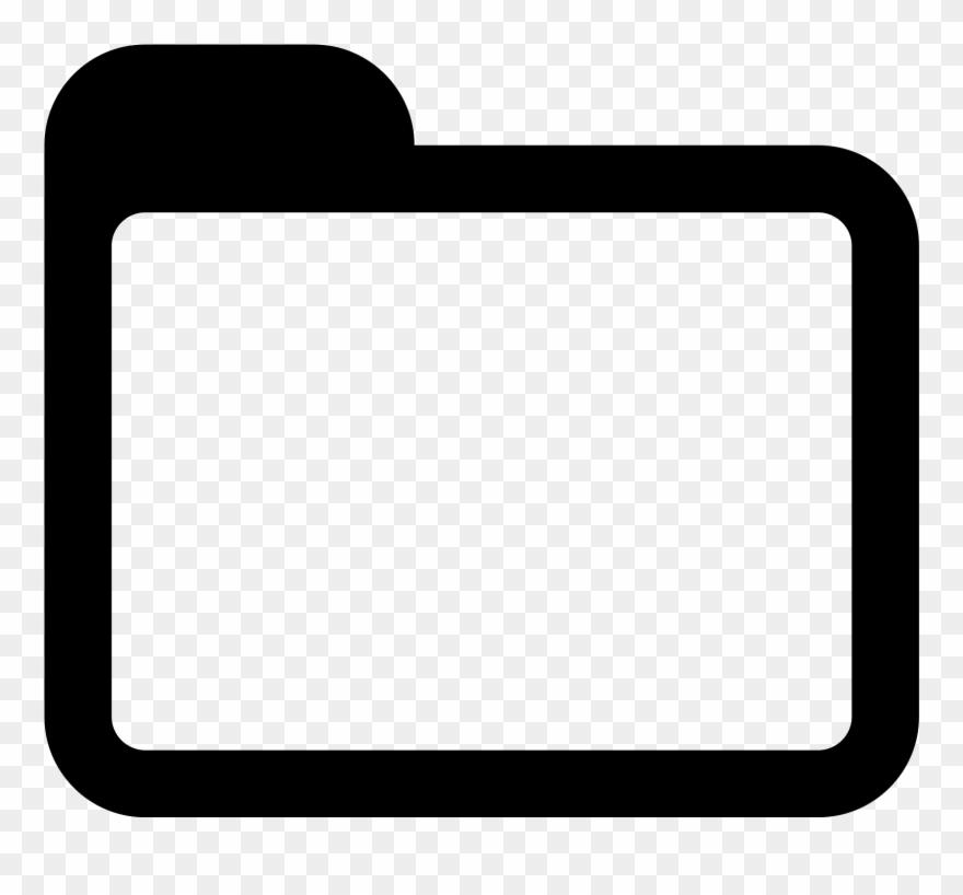 Folder Clipart Black And White.