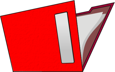 Red Folder Clipart.