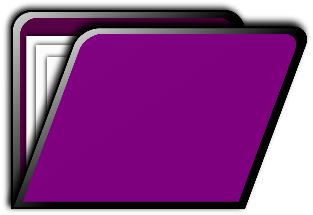 Purple Folder Clipart.