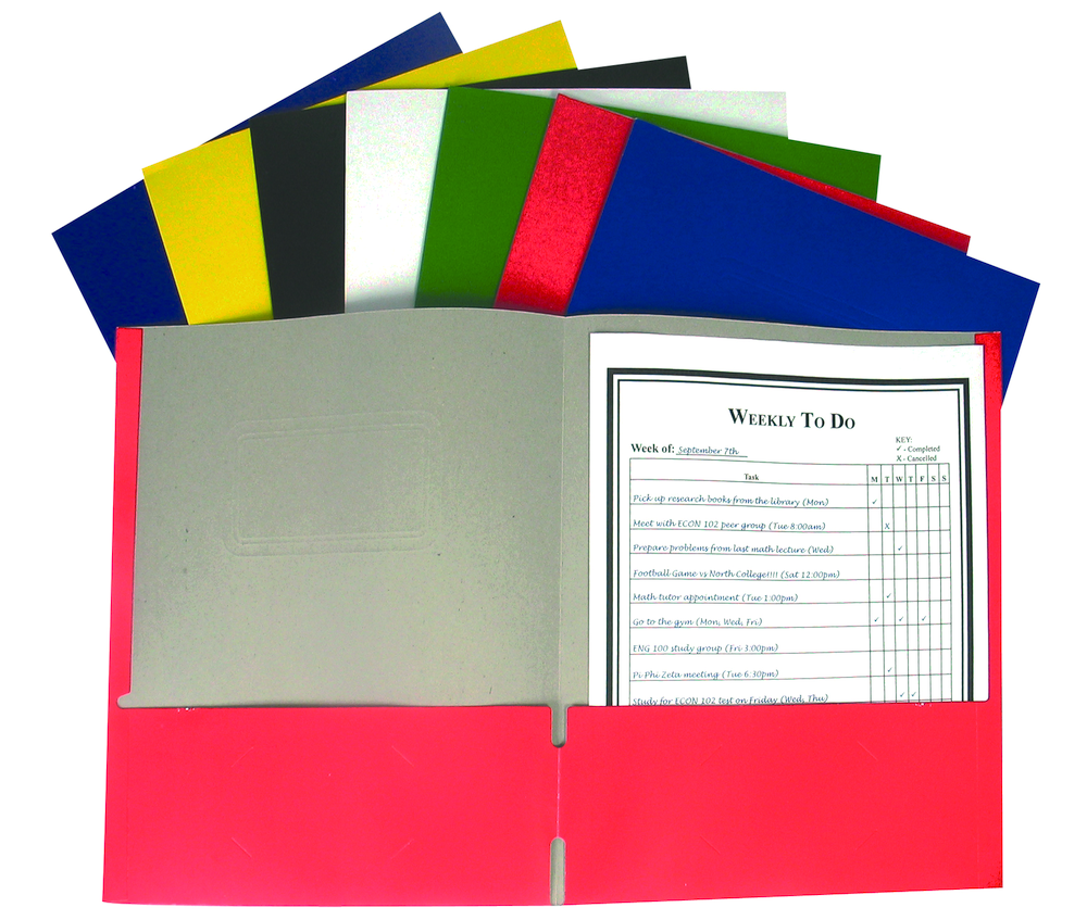 School Folder Clipart.