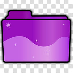 Folder Icon Set, Pink, purple folder icon transparent.