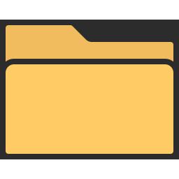 Folder Icon Outline Filled.