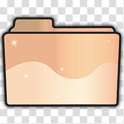 Folder Icon Set, Plain, brown and beige folder icon.
