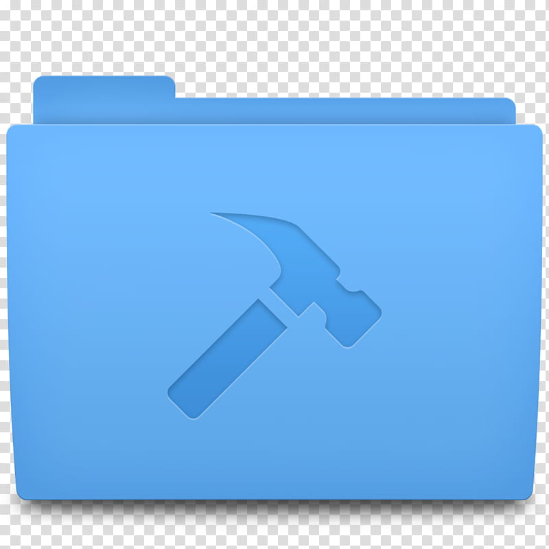 Accio Folder Icons for OSX, Developer, hammer file icon.
