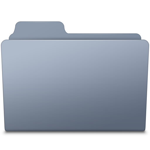Generic Folder Graphite Icon.