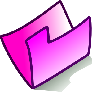 Pink Folder Clip Art at Clker.com.