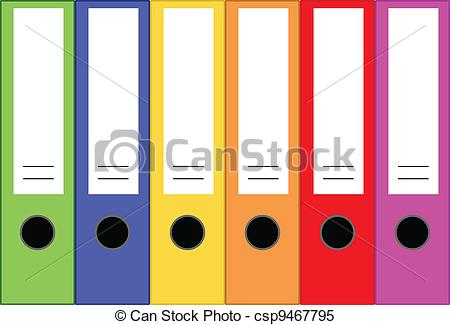 Clipart Vector of Office Folders.