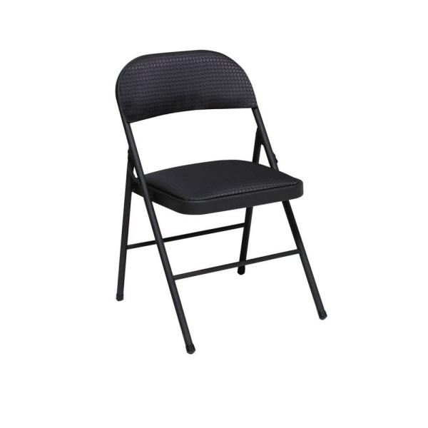 Cosco Fabric Seat and Back Folding Chair in Black (4.