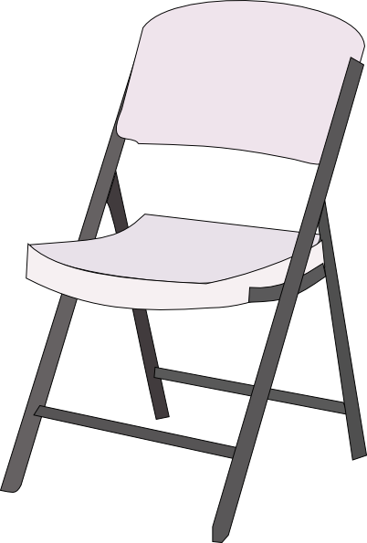 Folding Chair Clip Art.