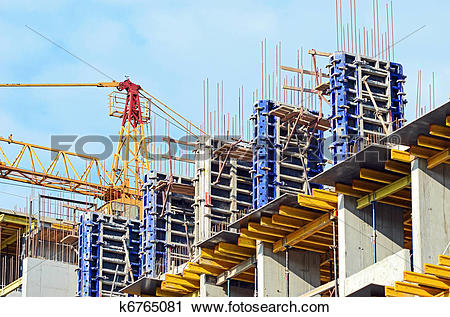 Stock Photography of Concrete formwork with a folding mechanism.