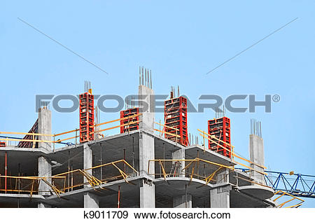Stock Photograph of Concrete formwork with a folding mechanism on.