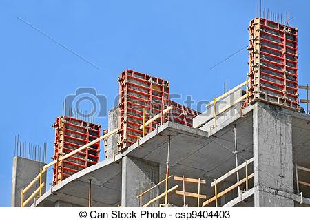 Stock Photos of Concrete formwork with a folding mechanism on.