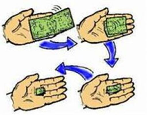 Animated Folding Bill, Paper Money Tricks at Magic Nevin's Shop.