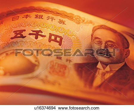 Stock Photo of folding money, investment, finance, banking.