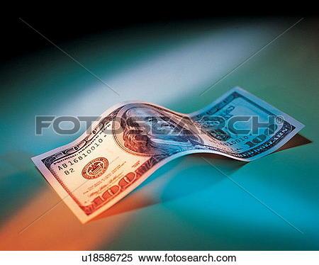Stock Image of folding money, global, life, banking, economy.