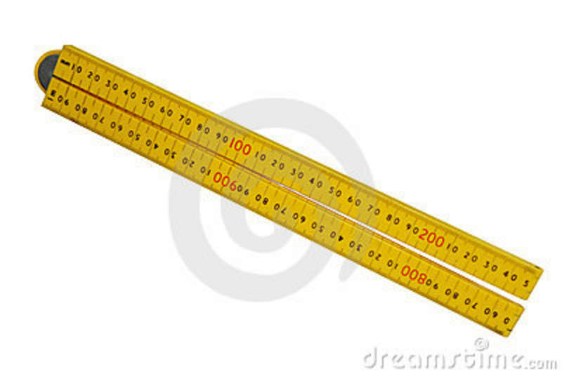 Plastic Folding Ruler Stock Images.