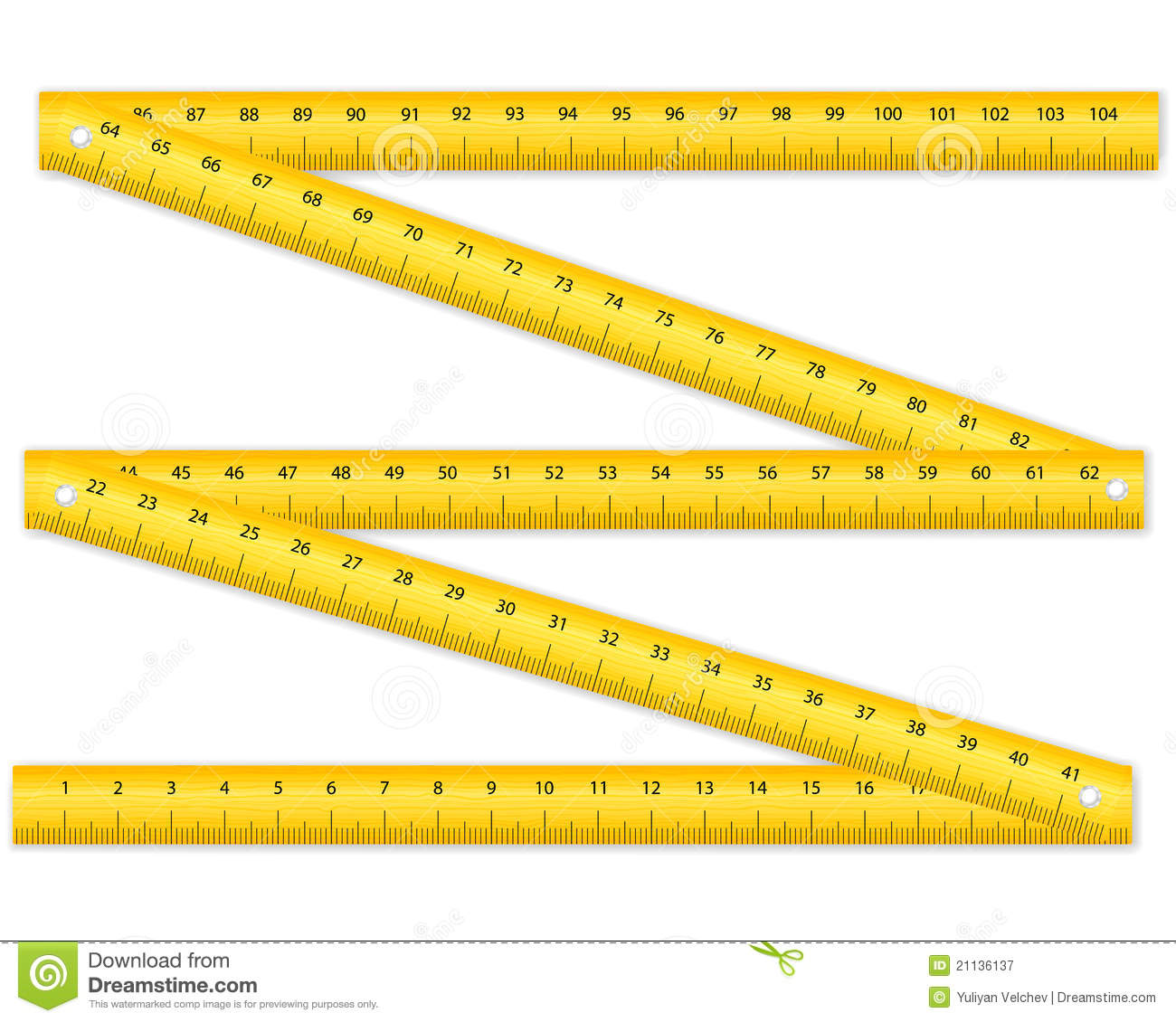 Folding Ruler Royalty Free Stock Photography.