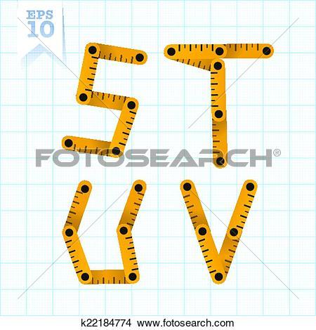 Clipart of Measuring folding ruler flat vector abc k22184774.