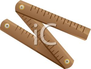 Folding Ruler Clipart Image.