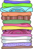 Clip Art of Folded Clothes k22091918.
