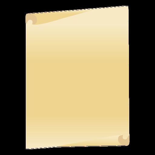 Folha de papel plana.