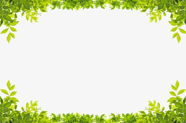 Green Leaves Border, Leaf, Frame, Up And Down PNG.