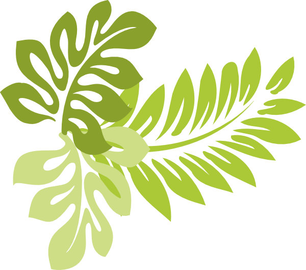 Green foliage clipart.