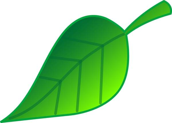 Free green leaf clipart.