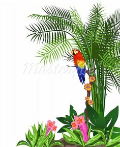 jungle flower clip art.