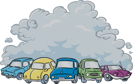 Car pollution clipart.