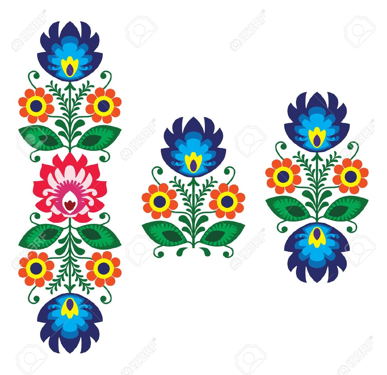 Vector embroidery clipart.