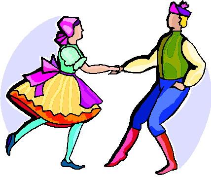 Folk dance clip art.