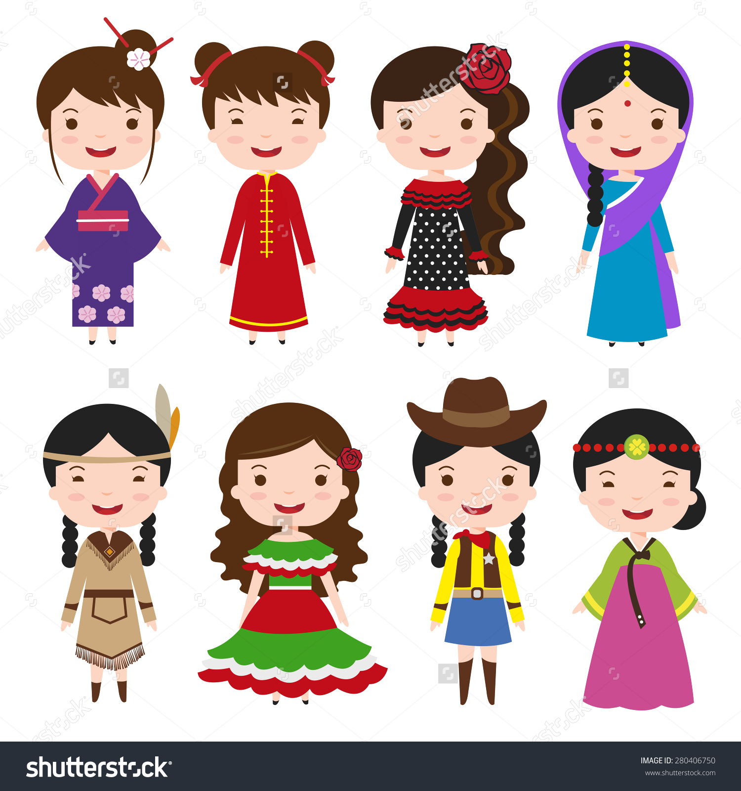 Folk Costumes Clipart Clipground