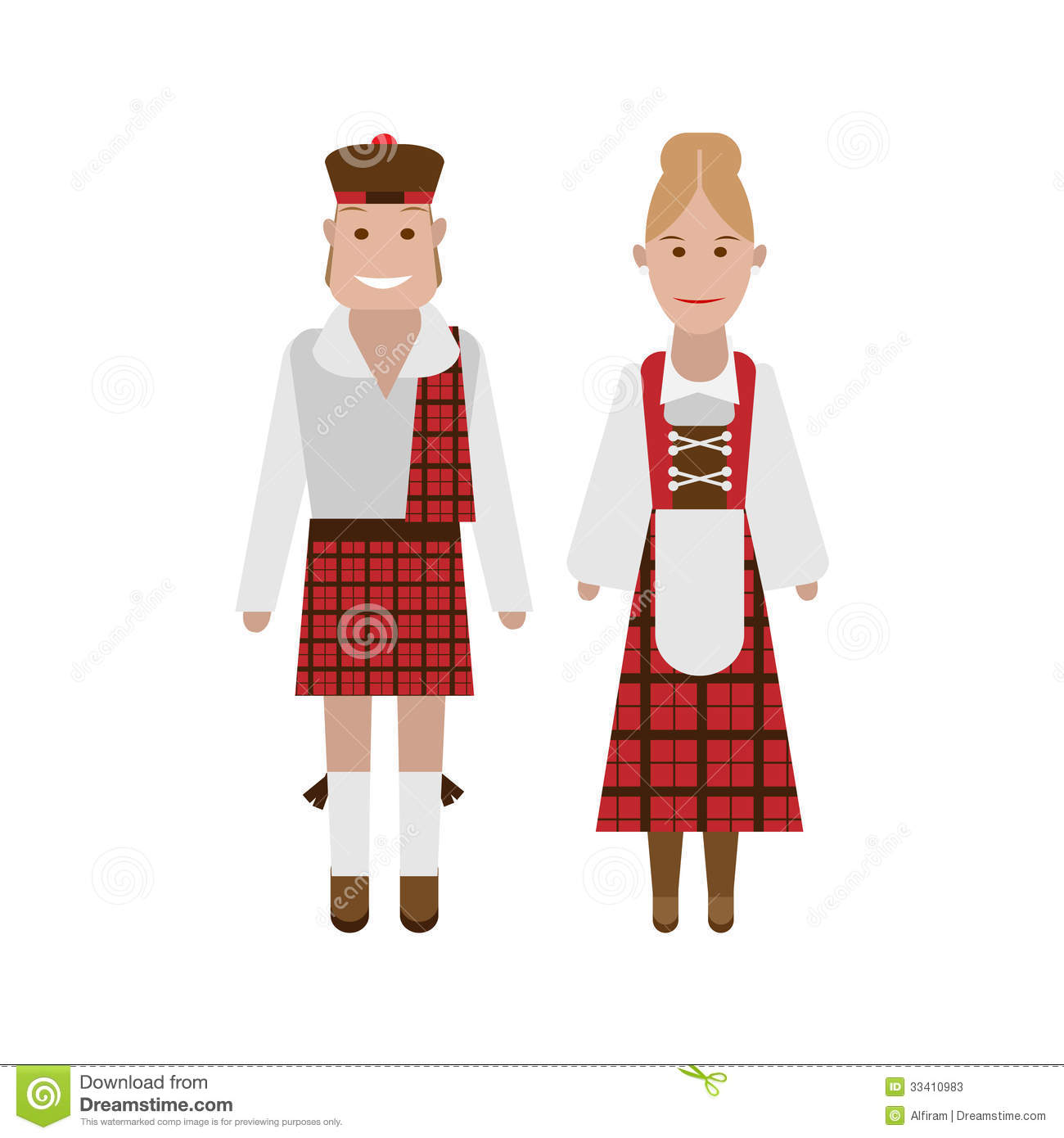 Scottish National Costume Stock Photos.