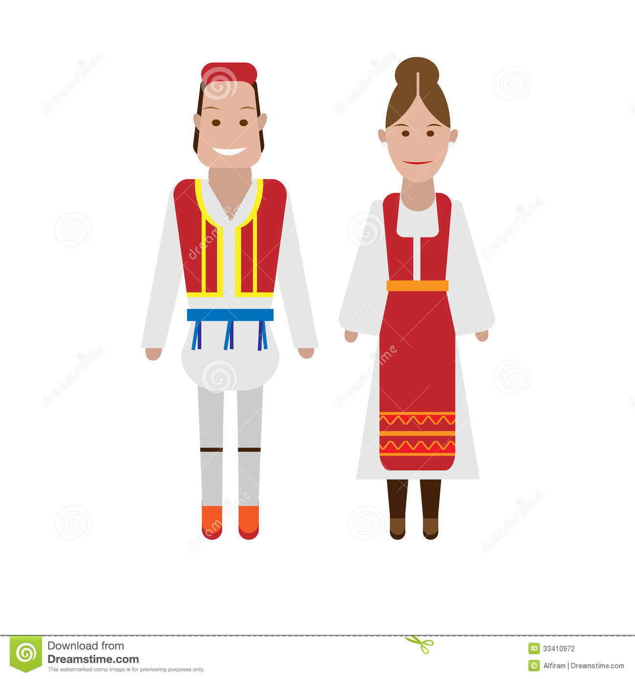 Greek National Costume Stock Photography.