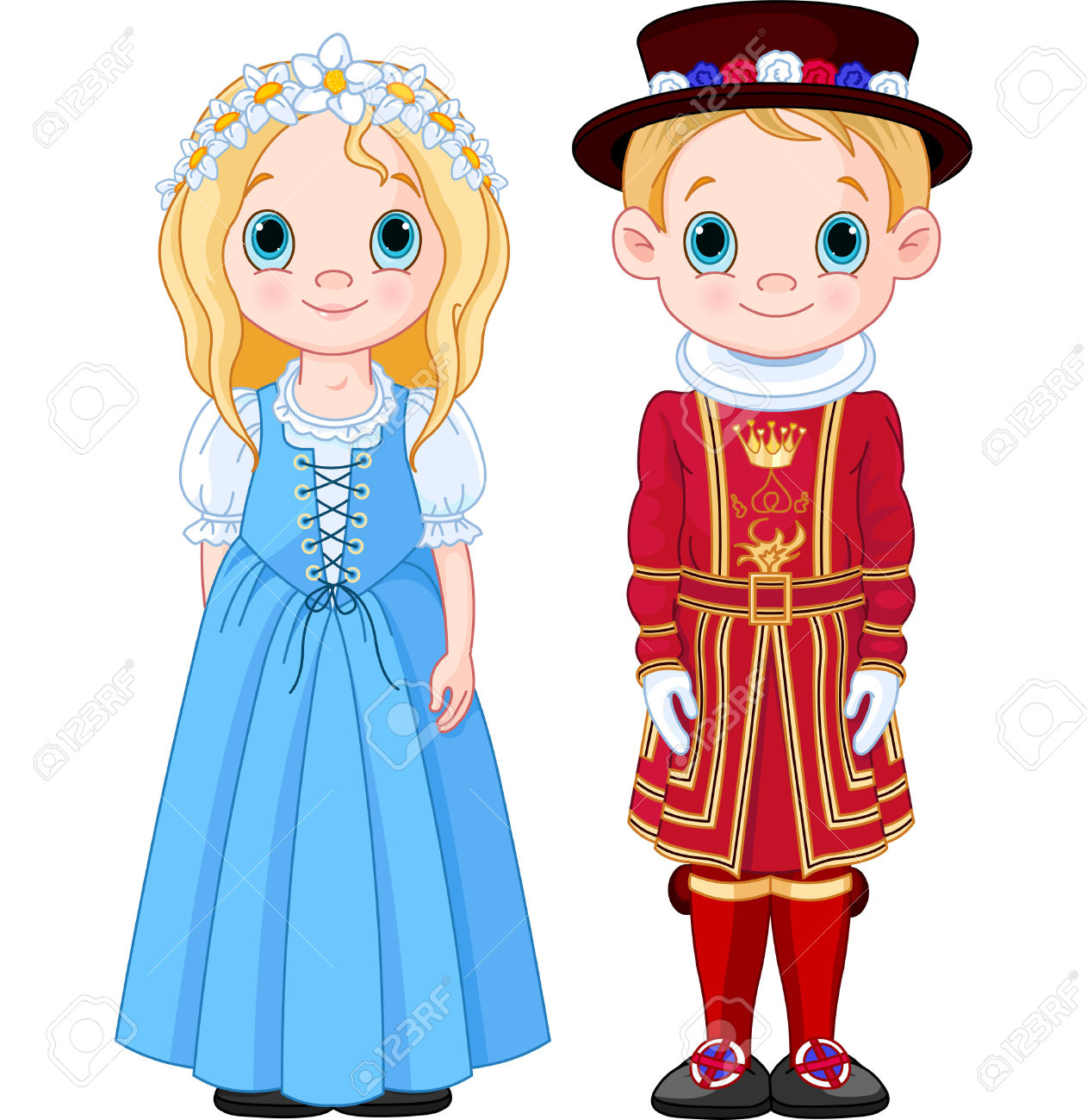 National costumes clipart.