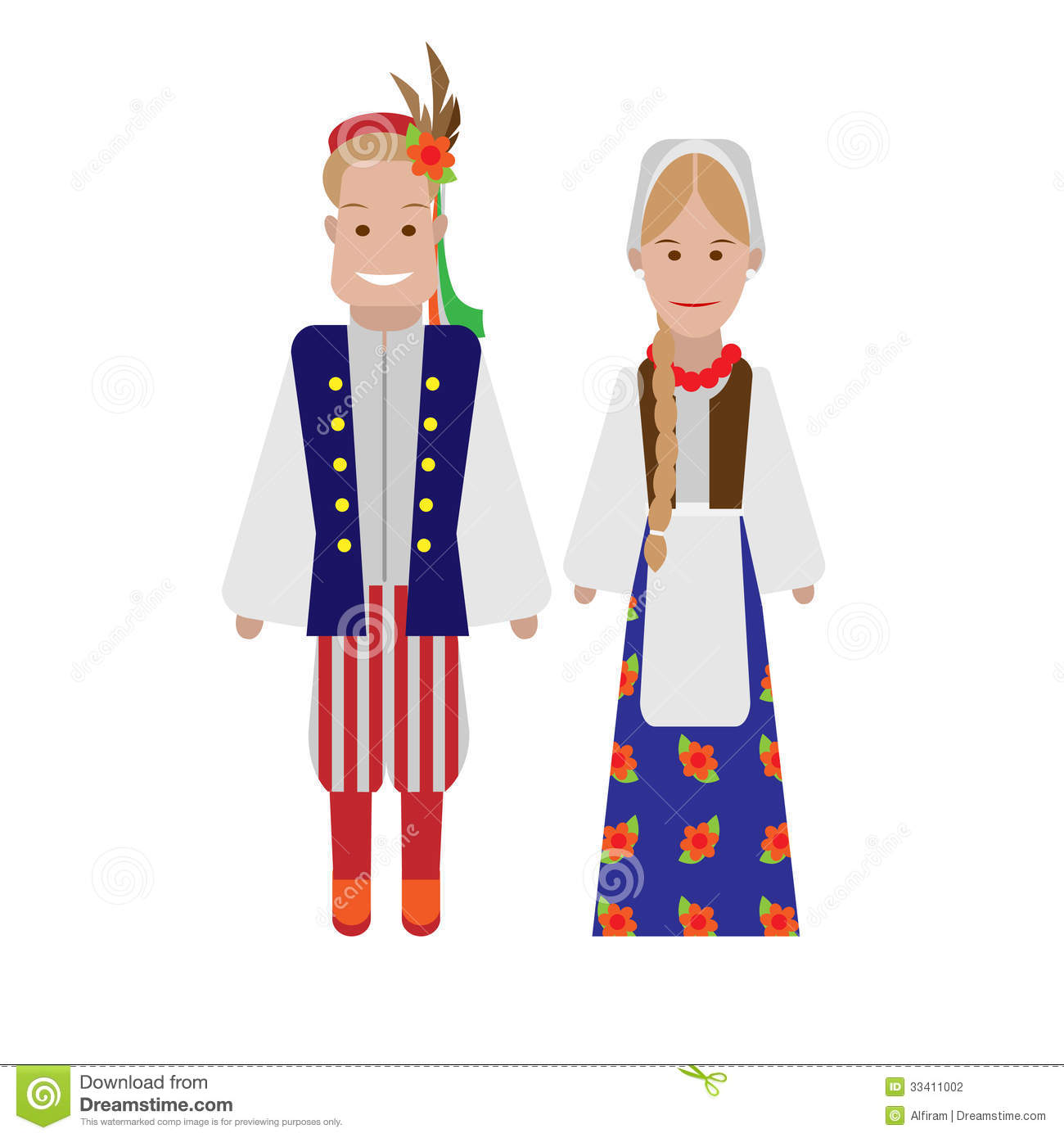 Polish National Costume Stock Photography.