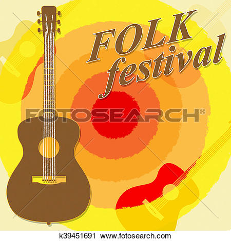 Clipart of Folk Festival Shows Country Music And Ballards.