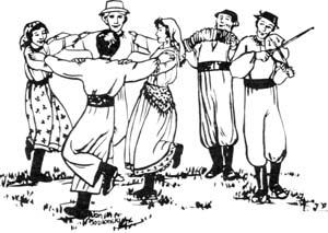 Folk Music Festival Clip Art.