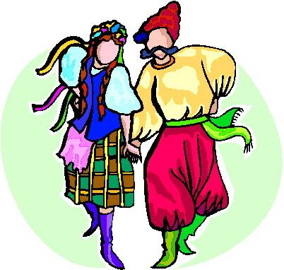 Folk dance clipart.