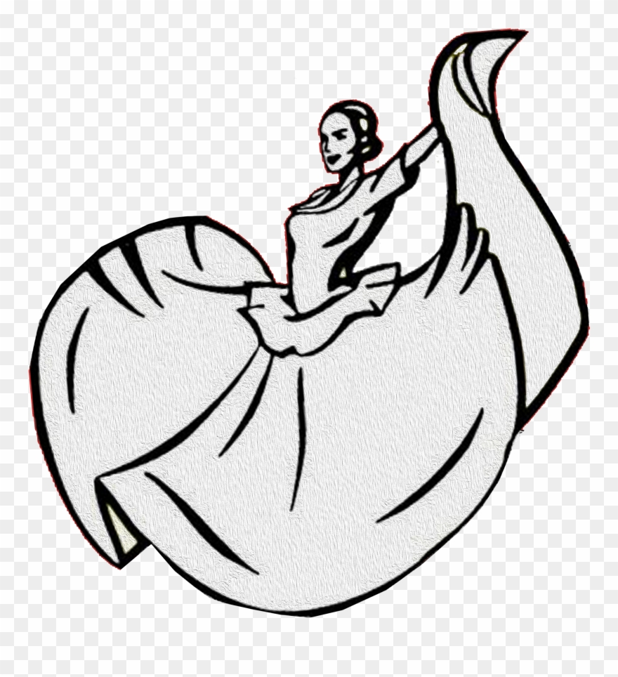 Baile Folklorico Dress Drawing Clipart (#4080925).