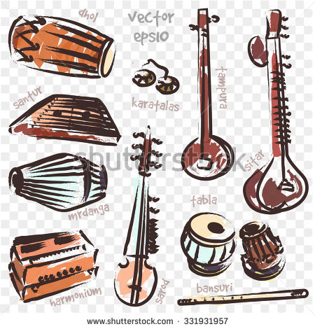 Indian Musical Instruments Stock Photos, Royalty.