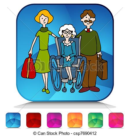 Old folks home clipart.