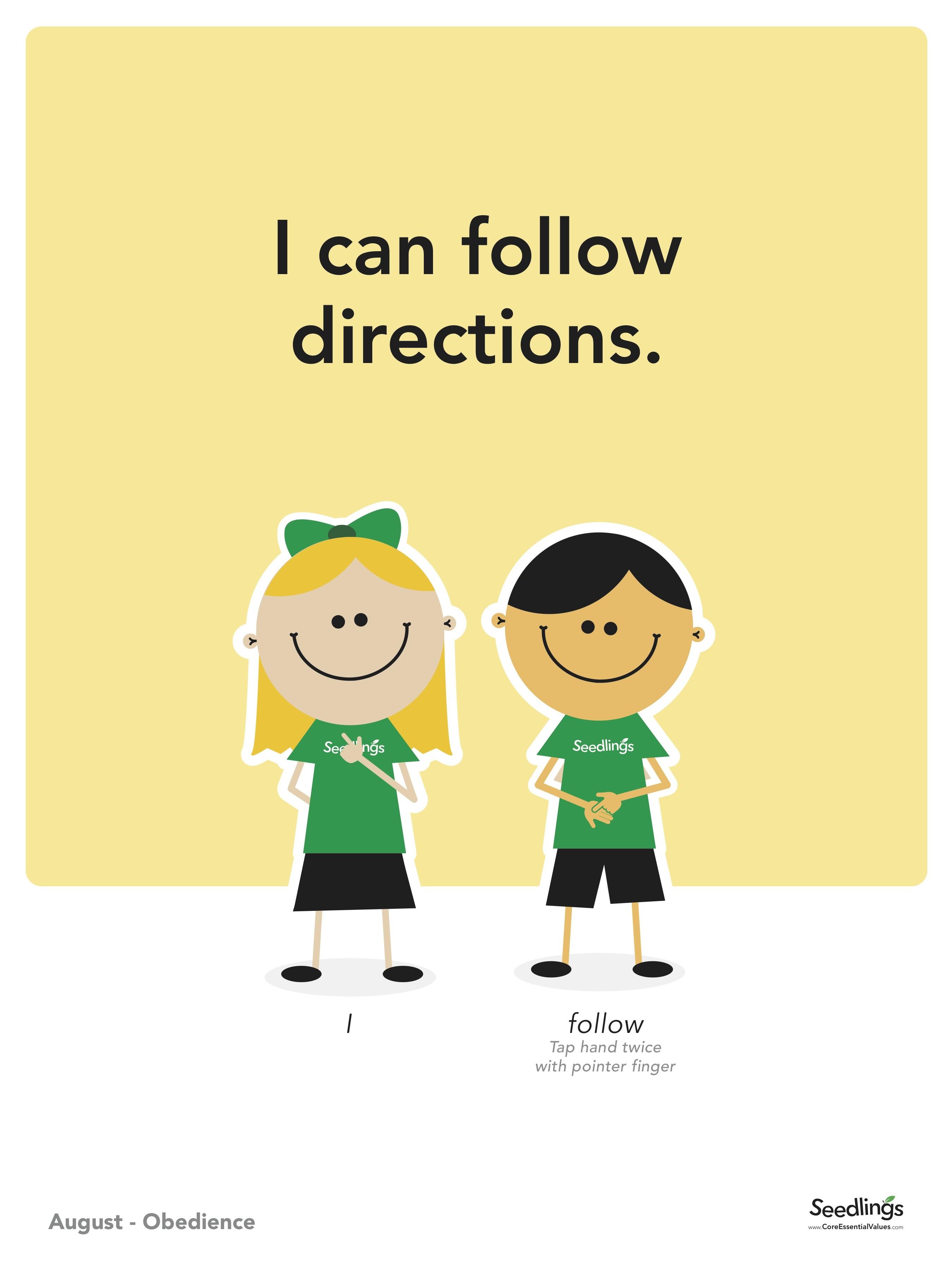 Follow directions clip art.